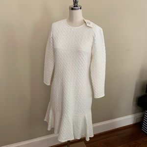 Shoshanna White Dress with Flare - NEVER WORN